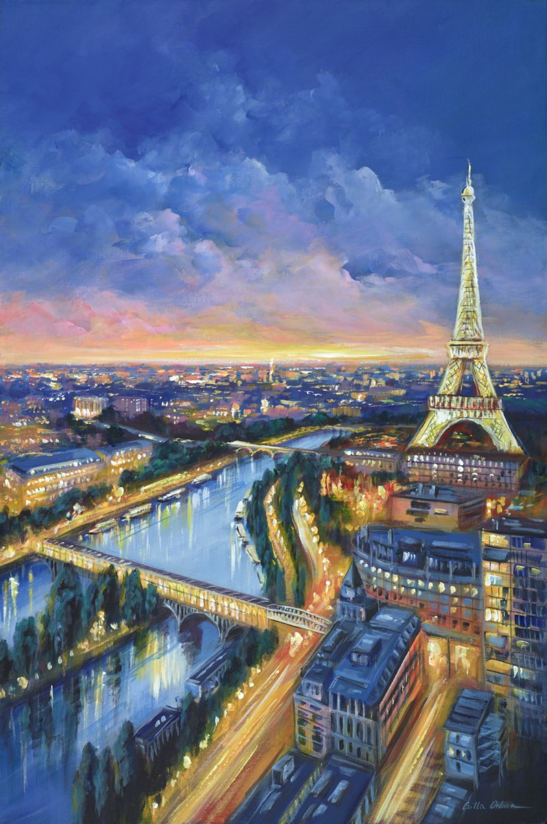 Parisienne View by csilla orban -  sized 24x36 inches. Available from Whitewall Galleries